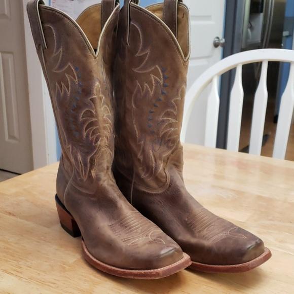 d0967d9081a Nocona Leather Tan Vintage Cow Legacy Boots